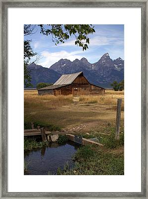 Teton Barn 2 Framed Print by Marty Koch