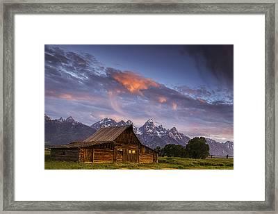 Teton Barn Framed Print by Andrew Soundarajan