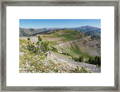 Teton Peaks From Mount Glory Framed Print by Mike Cavaroc