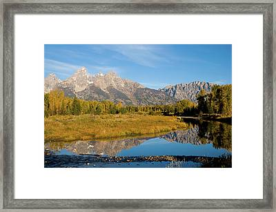 Teton Reflections Framed Print by Steve Stuller