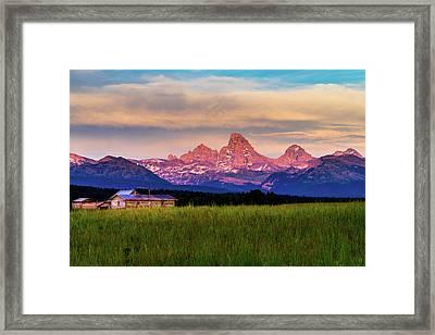 Teton Valley Sunset Framed Print by TL  Mair