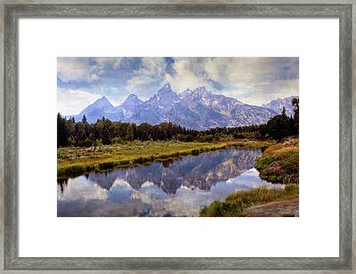 Tetons At The Landing 1 Framed Print by Marty Koch