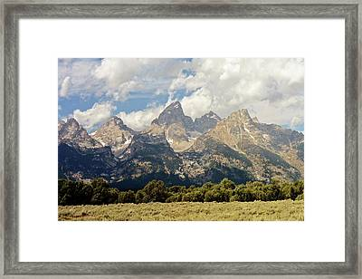 Tetons Grande 2  Framed Print by Marty Koch