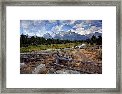 Tetons Grande 3 Framed Print by Marty Koch