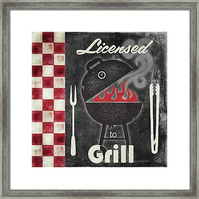 Texas Barbecue I Framed Print by Mindy Sommers