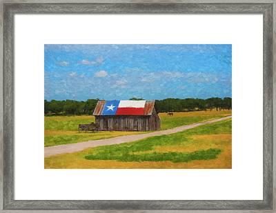 Texas Barn Framed Print by Gary Grayson