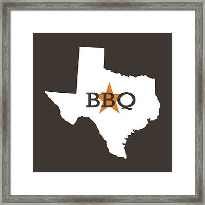 Texas Bbq Framed Print by Nancy Ingersoll