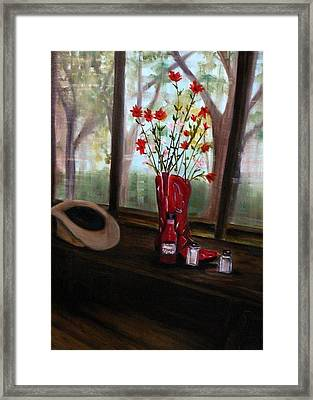 Texas Cafe Framed Print by Betty Pimm