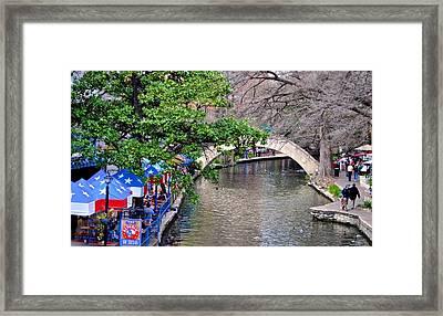 Texas Cafe Framed Print by Kristina Deane