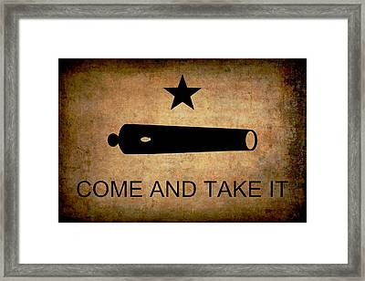 Texas Come And Take It Flag  1835 Framed Print by Daniel Hagerman