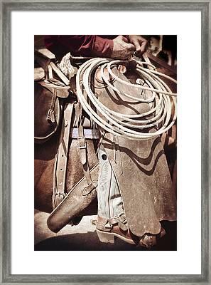 Texas Cowboy 1 Framed Print by Paul Huchton