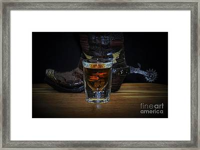 Texas Drink Framed Print by Ray Shrewsberry
