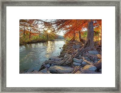Texas Hill Country Fall Colors 1 Framed Print by Rob Greebon