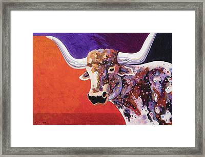Texas Longhorn Framed Print by Bob Coonts
