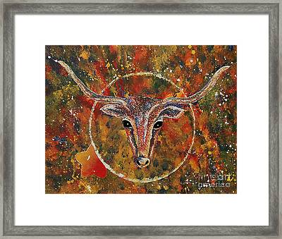 Texas Longhorn Framed Print by Tamyra Crossley
