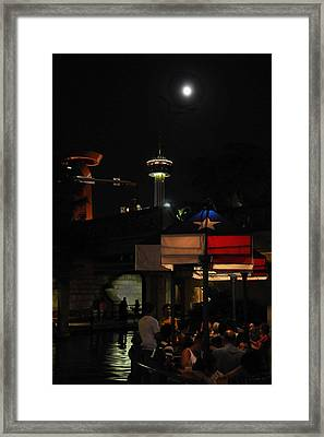 Texas Moon Framed Print by Steven Sparks