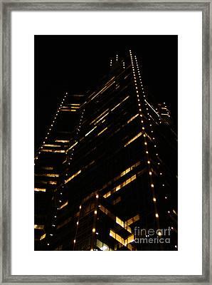 Texas Night Framed Print by Linda Shafer