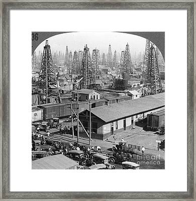 Texas: Oil Field, 1930 Framed Print by Granger