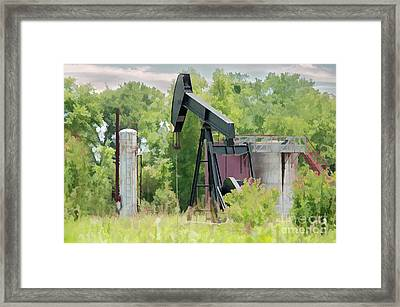 Texas Pumper On Display Framed Print by Darla Rae Norwood
