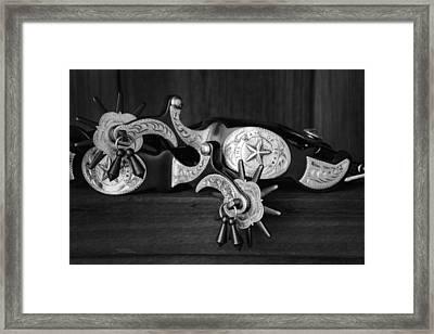Texas Spurs Framed Print by Tom Mc Nemar