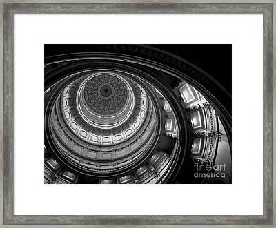 Texas State Capital Dome Austin  Framed Print by Edward Fielding