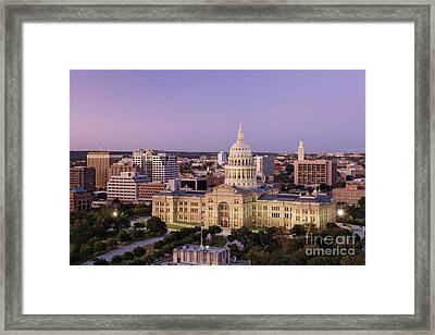 Texas State Capitol Framed Print by Jeremy Woodhouse