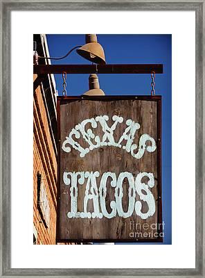 Texas Tacos Framed Print by Charles Dobbs