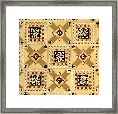Textile Design Framed Print by English School