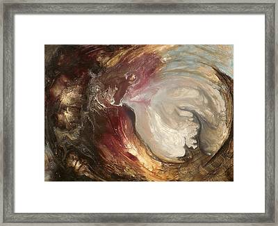 textured fluid acrylic original painting SACRED Framed Print by Holly Anderson