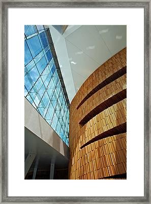Textures And Light Inside Oslo Opera House Framed Print by Kabir Khiatani
