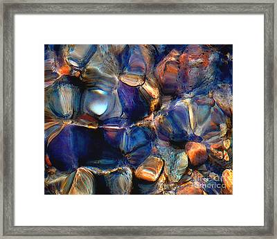 Textures Of A Streambed 6 Framed Print by Terril Heilman