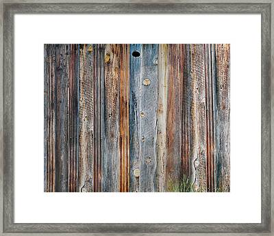 Textures Of An Old Barn Framed Print by Terril Heilman