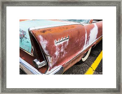 50s Tail Fin Framed Print by Jim Hughes