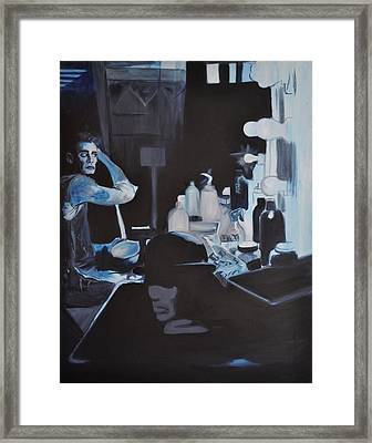Th Show Must Go On Framed Print by Mitchell Todd