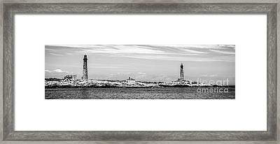 Thacher Island Framed Print by Charles Dobbs