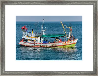 Thai Fishing Framed Print by Adrian Evans