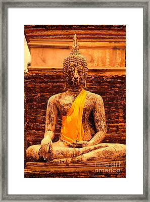 Thailand Buddha Statue Framed Print by Kyle Rothenborg - Printscapes