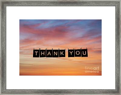 Thank You Framed Print by Tim Gainey