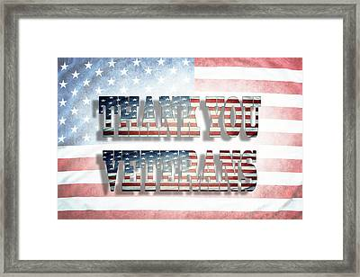 Thank You Veterans Framed Print by Les Cunliffe
