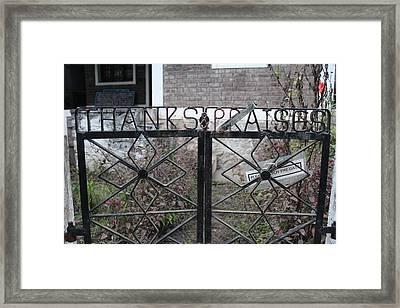 Thanks And Praises, Isreal's Place, Kodaikanal Framed Print by Jennifer Mazzucco