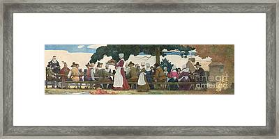 Thanksgiving Banquet Framed Print by Newell Convers Wyeth