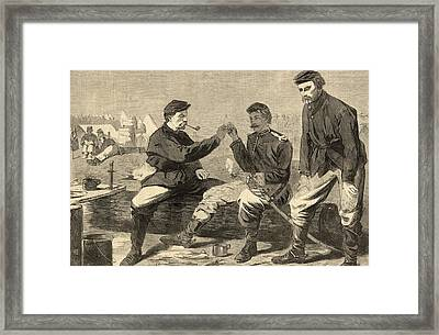 Thanksgiving Day In The Army Framed Print by Winslow Homer