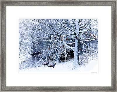 Thanksgiving Guests Framed Print by Ron Jones