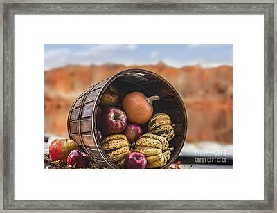 Thanksgiving Harvest Basket Framed Print by Alissa Beth Photography