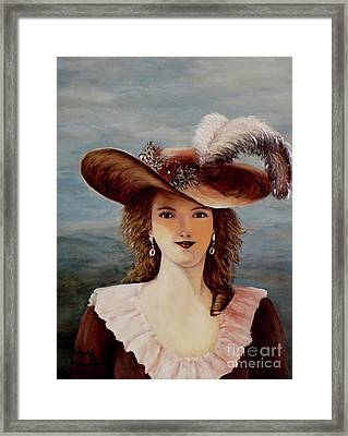 That Feather In Her Hat Framed Print by Judy Kirouac