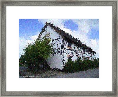 Thatched Country House Impressionist Painting Framed Print by Dawn Hay