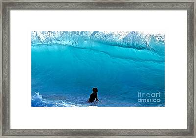 That's A  Wave - Kekaha Beach Framed Print by Debra Banks