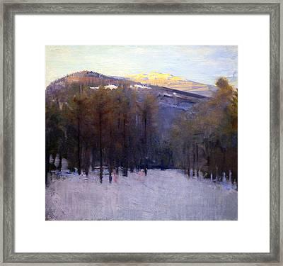 Thayer's Mount Monadnock Framed Print by Cora Wandel