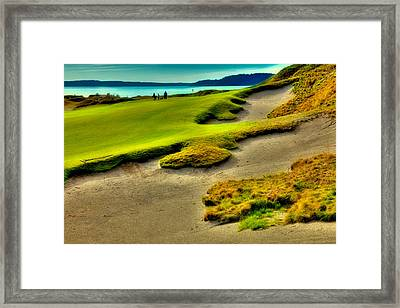 The #1 Hole At Chambers Bay Framed Print by David Patterson