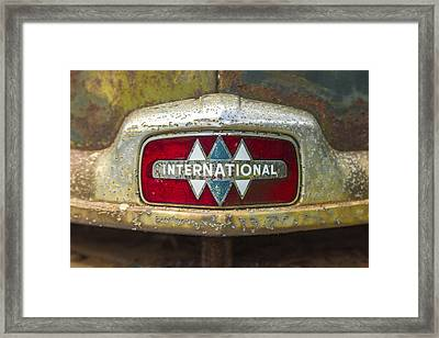 The 1947 International Emblem Ihc Trucks Framed Print by Reid Callaway
